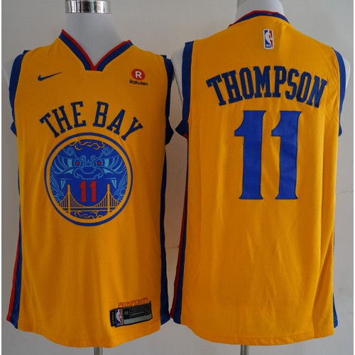 Klay Thompson Golden State Warriors City Edition 2017-18 NBA X Nike  Swingman Jersey 18c11000d