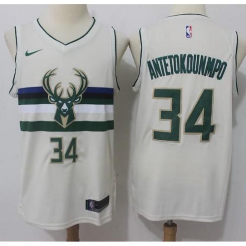 5bb1c77f2 Giannis Antetokounmpo Milwaukee Bucks City Edition 2017-18 NBA X Nike  Swingman Jersey