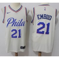 Joel Embiid Philadelphia 76ers City Edition 2017-18 NBA X Nike Swingman Jerseya
