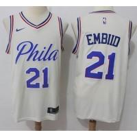 Joel Embiid Philadelphia 76ers City Edition 2017-18 NBA X Nike Swingman Jerseya
