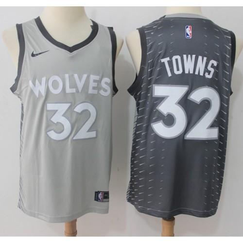 144f3356f Karl Anthony Towns Minnesota Timberwolves City Edition 2017-18 NBA X Nike Swingman  Jersey
