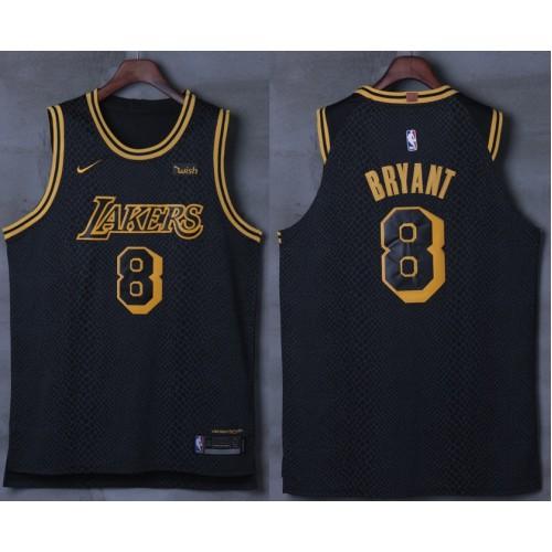 Kobe Bryant No.8 Los Angeles Lakers City Edition 2017-18 NBA X Nike Swingman  Jersey 596683dc6