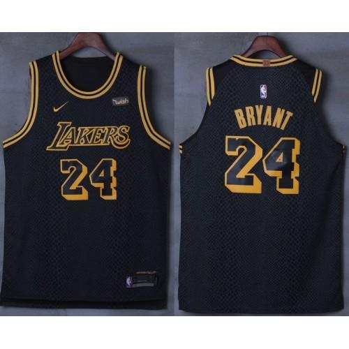 Kobe Bryant No.24 Los Angeles Lakers City Edition 2017-18 NBA X Nike  Swingman Jersey b7672bf3f