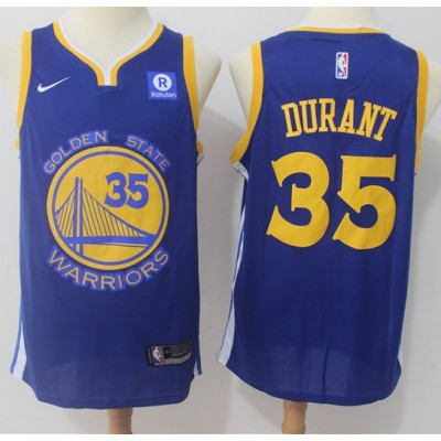 Kevin Durant Golden State Warriors Blue 2017-18 NBA X Nike Swingman Jersey