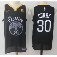 Stephen Curry Golden State Warriors Black 2017-18 NBA X Nike Swingman Jersey