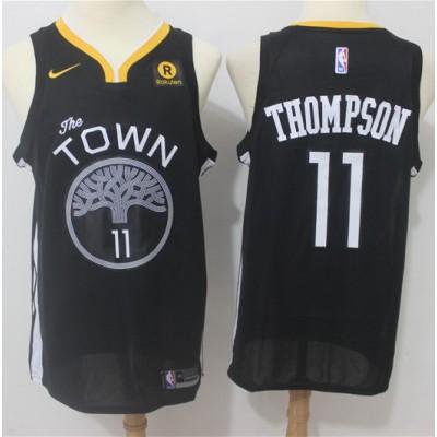 Klay Thompson Golden State Warriors Black 2017-18 NBA X Nike Swingman Jersey