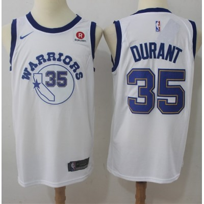 Kevin Durant Golden State Warriors Retro White 2017-18 NBA X Nike Swingman Jersey