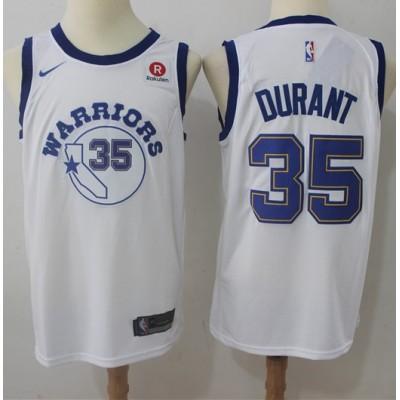 Kevin Durant Golden State Warriors Retro White 2017-18 NBA X Nike Swingman Jersey