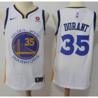 Kevin Durant Golden State Warriors White 2017-18 NBA X Nike Swingman Jersey