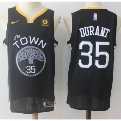 Kevin Durant Golden State Warriors Black 2017-18 NBA X Nike Swingman Jersey