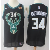 Giannis Antetokounmpo Milwaukee Bucks Black 2017-18 NBA X Nike Swingman Jersey