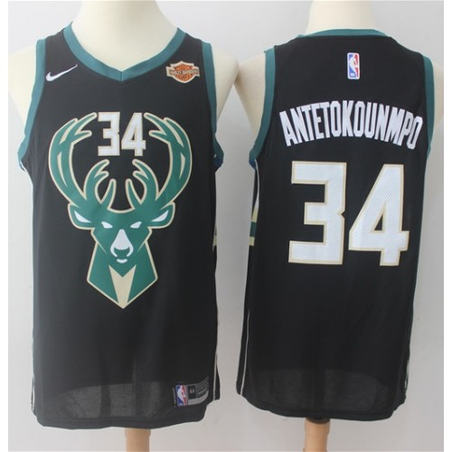f29b08222 Giannis Antetokounmpo Milwaukee Bucks Black 2017-18 NBA X Nike Swingman  Jersey