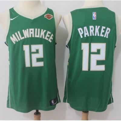 Jabari Parker Milwaukee Bucks Green 2017-18 NBA X Nike Swingman Jersey