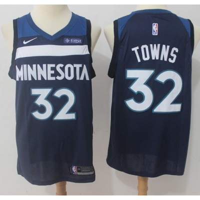 Karl-Anthony Towns Minnesota Timberwolves Blue 2017-18 NBA X Nike Swingman Jersey