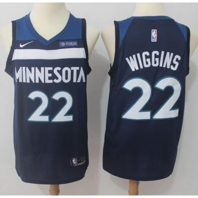 Andrew Wiggins Minnesota Timberwolves Blue 2017-18 NBA X Nike Swingman Jersey