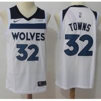 Karl-Anthony Towns Minnesota Timberwolves White 2017-18 NBA X Nike Swingman Jersey