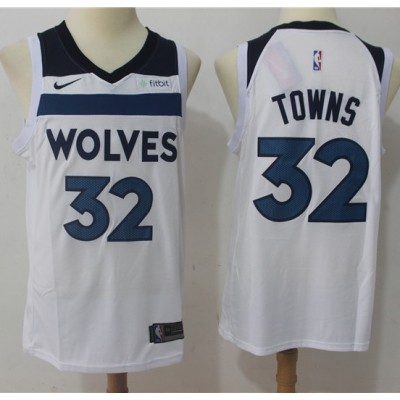 Karl-Anthony Towns Minnesota Timberwolves White 2017-18 NBA X Nike Swingman Jersey