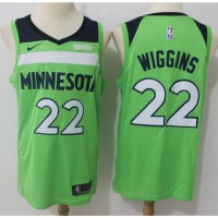 Andrew Wiggins Minnesota Timberwolves Fluorescent Green 2017-18 NBA X Nike Swingman Jersey