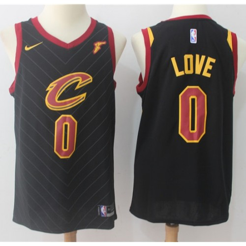 005cad43a Kevin Love Cleveland Cavaliers Black 2017-18 NBA X Nike Swingman Jersey