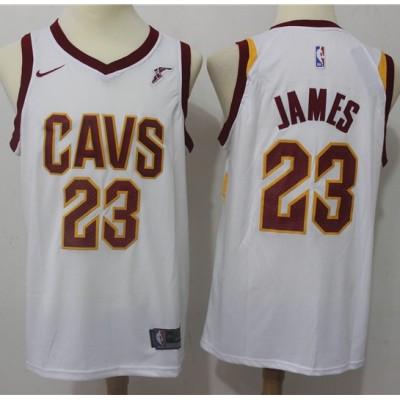LeBron James Cleveland Cavaliers White 2017-18 NBA X Nike Swingman Jersey