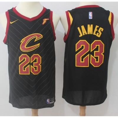 LeBron James Cleveland Cavaliers Black 2017-18 NBA X Nike Swingman Jersey