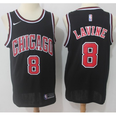 Zach Lavine Chicago Bulls Black 2017-18 NBA X Nike Swingman Jersey