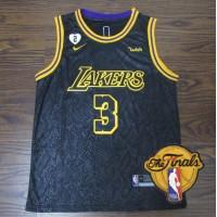 **Anthony Davis 2020 Black Mamba Los Angeles Lakers Jersey with Gigi Bryant Heart Patch** Finals Logo Option