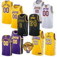 *Los Angeles Lakers 2020 Finals Logo Jerseys - Players Name or Own Name