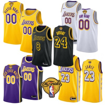 ***Los Angeles Lakers 2020 Finals Logo Jerseys - Players Name or Own Name