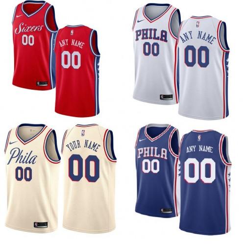 e61252e2a Philadelphia 76ers Customizable Jerseys