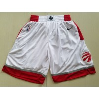 Toronto Raptors White Basketball Shorts