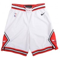 Chicago Bulls White Basketball Shorts