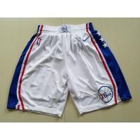 Philadelphia 76ers White Basketball Shorts
