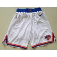 New York Knicks White Basketball Shorts