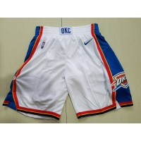 Oklahoma City Thunder White Basketball Shorts