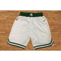 Boston Celtics White Basketball Shorts