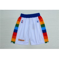 Denver Nuggets Classic White Basketball Shorts