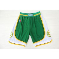 Seattle Supersonics Classic White Basketball Shorts