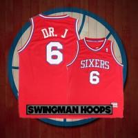 "Julius Erving ""DR J"" Nickname Philadelphia 76ers Hardwood Classics Jersey"