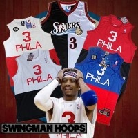 Allen Iverson Philadelphia 76ers 1965 Throwback Two Tone Jerseys