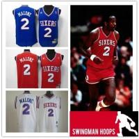 Moses Malone Philadelphia 76ers Hardwood Classics Jerseys