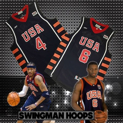 USA Basketball 2004 Olympics Jerseys