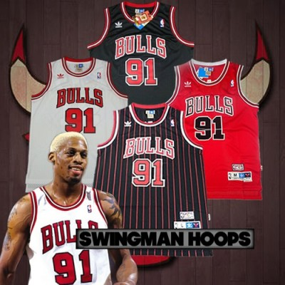 Dennis Rodman Chicago Bulls Hardwood Classics Jerseys