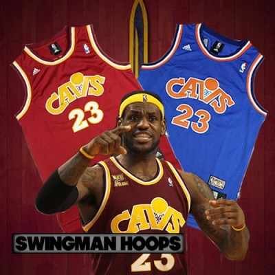 LeBron James Cleveland Cavaliers 1987 Hardwood Classics Jerseys