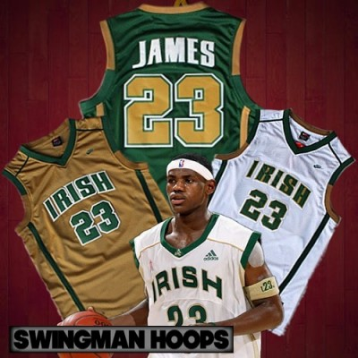 LeBron James Irish High School Jerseys