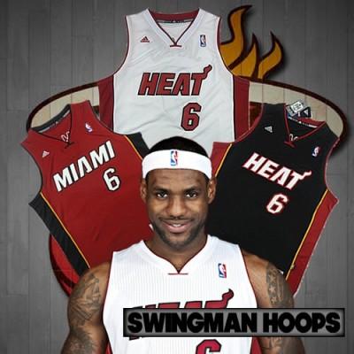 LeBron James Miami Heat REV30 Swingman Jerseys