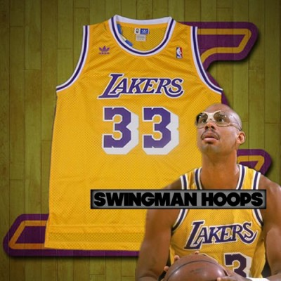 Kareem Abdul-Jabbar Los Angeles Lakers Hardwood Classics Jerseys