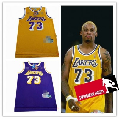 Dennis Rodman Los Angeles Lakers Hardwood Classics Jerseys