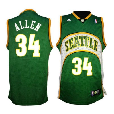 Ray Allen Seattle Supersonics Mesh Jersey
