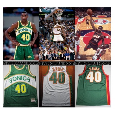 Shawn Kemp Seattle Supersonics Jerseys